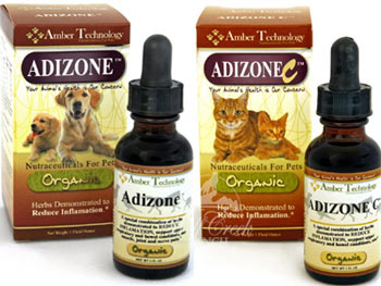Adizone is an organic herbal natural anti-inflammatory similar to prednisone.<br />Adizone-C is specifically for felines.
