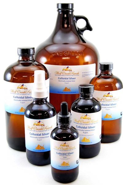 Colloidal Silver (CS/EIS) 8 oz., 8 oz. Mister, 32 oz., 16 oz., 4 oz. bottles.  Natural antibiotic alternative that kills viruses, bacteria, fungi, and single celled organisms such as coccidia and giardia protozoan
