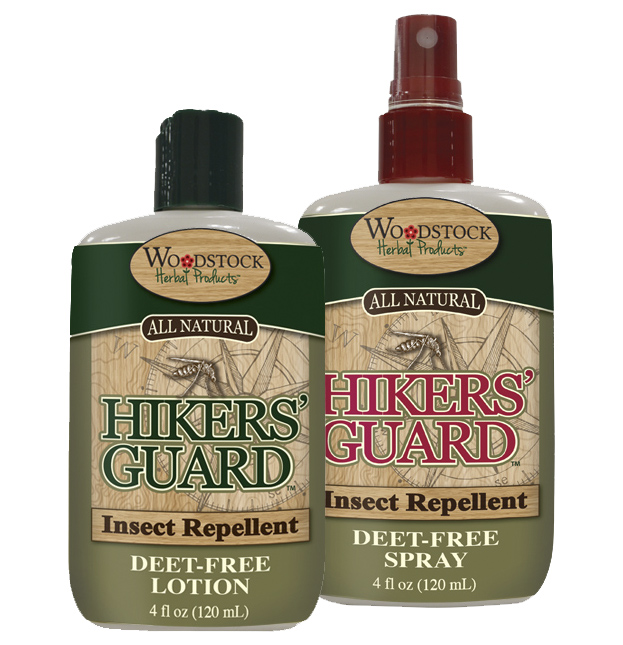Hiker's Guard Insect Repellent ~ Deet-Free ~ available in lotion or spray.
