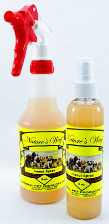 Nature's Way Insect Spray is an excellent natural flea, tick, mosquito, lice, mite and other annoying pet insect spray for people and pets.