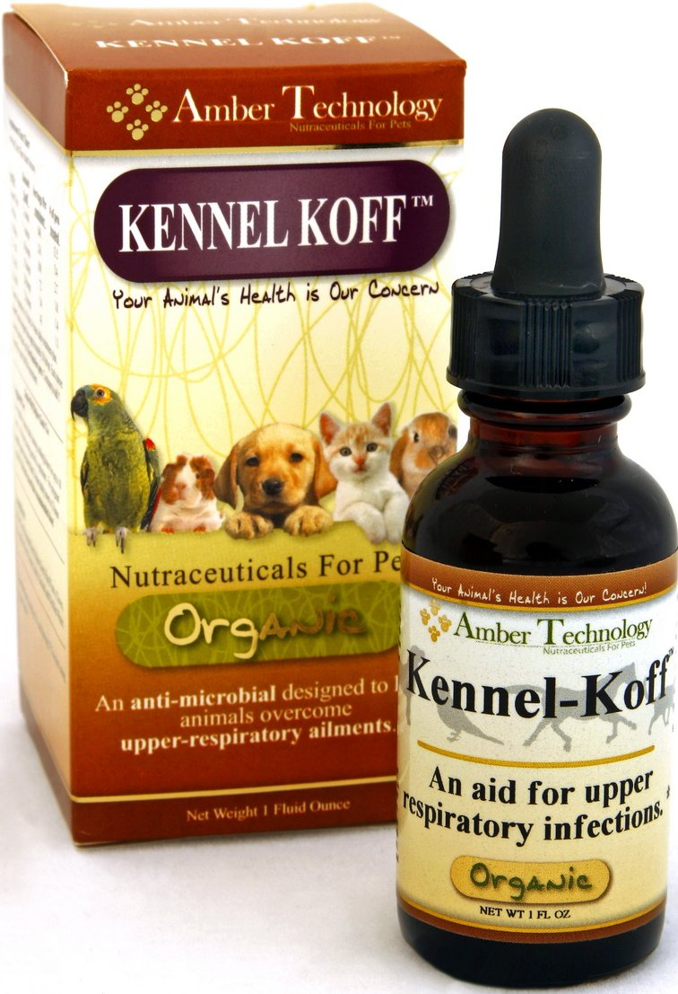 Kennel-Koff is a natural organic herbal treatment remedy that helps eliminate canine kennel cough and upper respiratory infections in all animals.  Buy the Kennel-Koff remedy now for your pet or animal respiratory infection.
